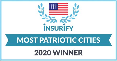 Insurify Most Patriotic Cities Award 2020