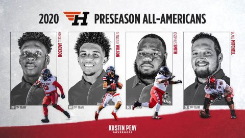 Austin Peay State University Football has Quartet of Govs named to HERO Sports Preseason FCS All-America Teams. (APSU Sports Information)