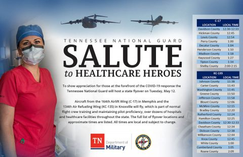 Tennessee National Guard Salute to Healthcare Workers