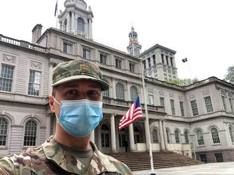 Maj. Olli Toukolehto, an Army psychiatrist, has been deployed to New York City for more than a month to support civilian medical professionals in the fight against COVID-19. He has been tasked to spearhead an outreach program to help educate civilian health workers on resilience and mental health during the pandemic.