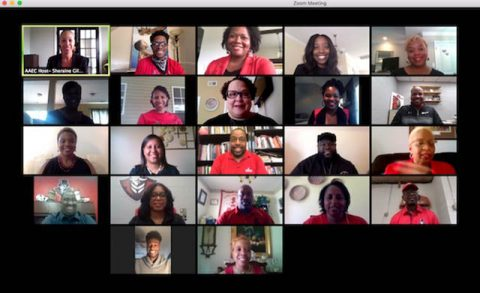Members of the AAEC at a virtual town hall. (APSU)