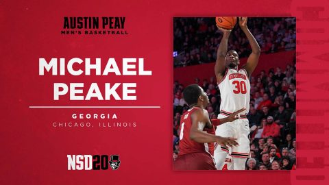 Austin Peay State University Men's Basketball bring Georgia transfer Michael Peake to Clarksville. (APSU Sports Information)