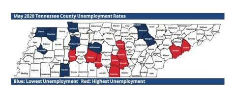 May 2020 Tennessee County Unemployment Rates