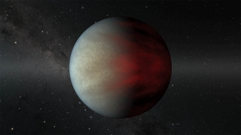 This image shows a type of gas giant planet known as a hot Jupiter that orbits very close to its star. Finding more of these youthful planets could help astronomers understand how they formed and if they migrate from cooler climes during their lifetimes. (NASA/JPL-Caltech)