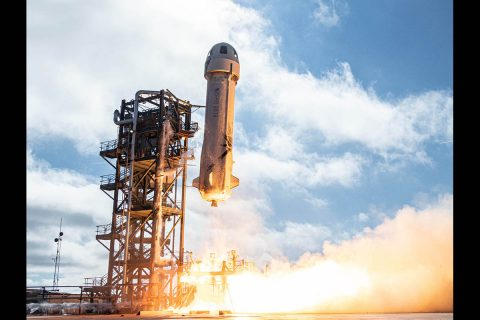 The Orbital Syngas/Commodity Augmentation Reactor (OSCAR) payload was flown to the edge of space on Dec. 11, 2019, aboard Blue Origin's New Shepard suborbital rocket. OSCAR attained around three minutes of microgravity to demonstrate its features. (Blue Origin)