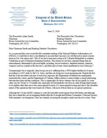 U.S. Representative Mark Green Demands Justice for K2 Veterans in NDAA
