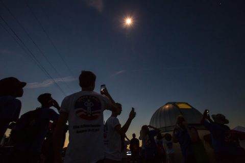 Austin Peay State University hosts PeayClipse event . (APSU)