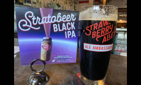 Strawberry Alley Ale Works' brew Stratobeer is made from hops Austin Peay State University launched into the near space. (APSU)