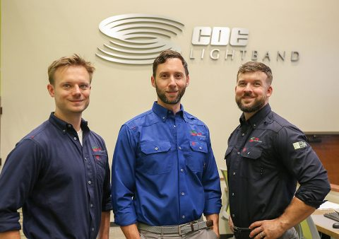 (L to R) Energy Services Specialist, Jared Combs, Energy Services Manager, John Jackson, Energy Services Specialist, Rob Denson.