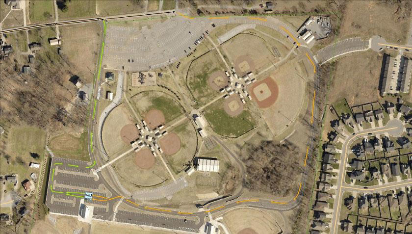 Civitan Park Montgomery County COVID-19 Drive-Through Testing Site Map.