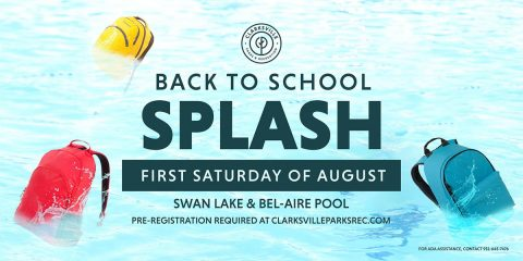 Back to School Splash to take place Saturday, August 1st