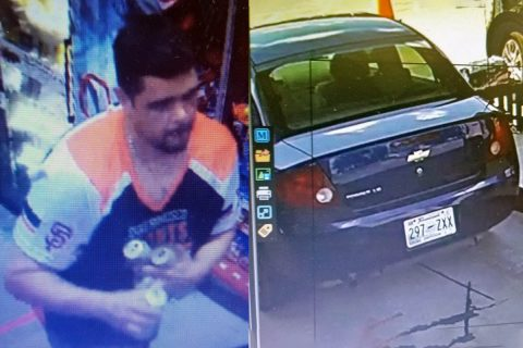 The suspect in this photo is wanted by Clarksville Police for several vehicle burglaries. The suspect was seen driving a dark blue Chevrolet Prizm.