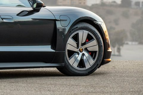 Hankook Tire is expanding its original equipment commitment and is now supplying the new Porsche Taycan, the first all-electric sports car from Porsche AG, with its Ventus S1 evo 3 ev e-tires.