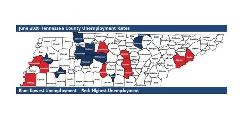 June 2020 Tennessee County Unemployment Rates