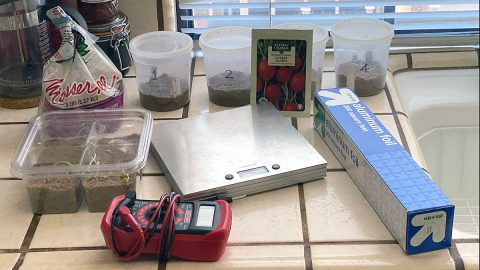 "Max Coleman's makeshift kitchen ""lab."" (NASA/JPL-Caltech)"