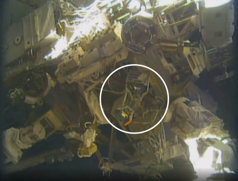 RiTS installed on the space station. (NASA TV)