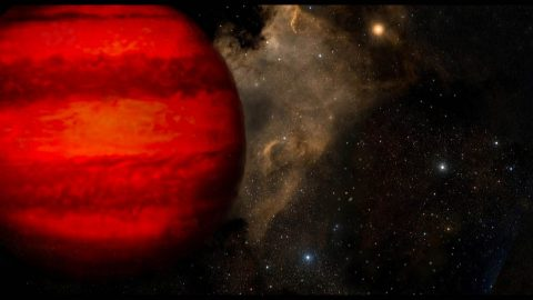 This artist's concept shows a brown dwarf, a ball of gas not massive enough to power itself the way stars do. Despite their name, brown dwarfs would appear magenta or orange-red to the human eye if seen close up. (William Pendrill (CC BY))