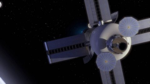 Illustration of a spacecraft with a nuclear-enabled propulsion system. (NASA)