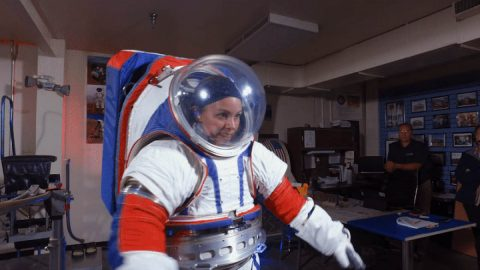 NASA's next-generation spacesuit is designed to give astronauts more mobility on the Moon and Mars. (NASA)
