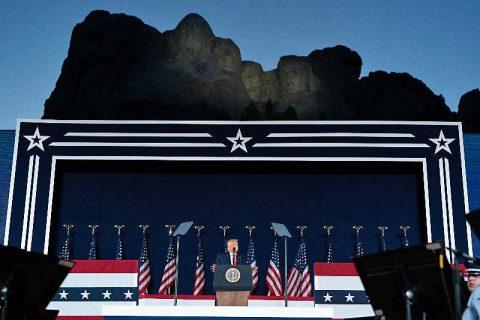 President Donald Trump at the 2020 Mount Rushmore Fireworks Celebration
