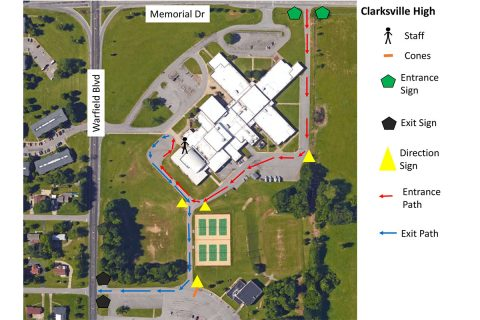 Richview Middle School Montgomery County COVID-19 Drive-Through Testing Site Map