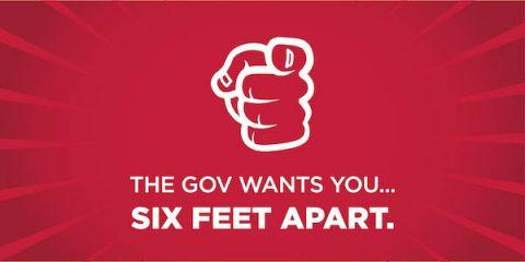 The Gov Wants You Six Feet Apart