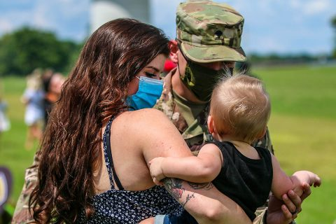 Over 110 3rd Brigade Combat Team, 101st Airborne Division Soldiers return to Fort Campbell from deployment to Africa.