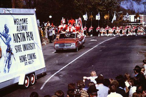 Austin Peay State University 1970 Homecoming parade. (APSU)