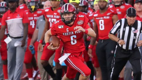Austin Peay State University Football quarterback Jeremiah Oatsvall. (APSU Sports Information)