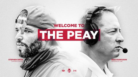Austin Peay State University Football adds Running Back coach Stephen Smith and Offensive Line coach Mike Markuson to staff. (APSU Sports Information)