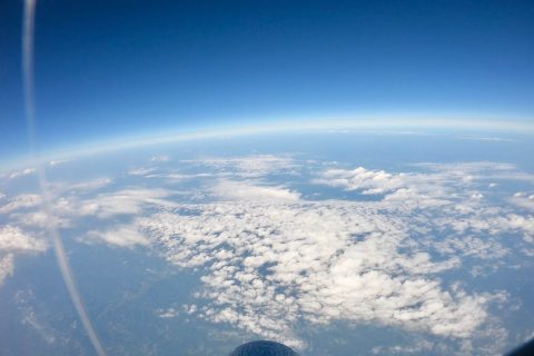 The Jackson County Middle School high-altitude balloon rose more than 20 miles into the sky, capturing stunning images. (APSU)