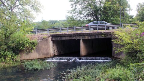 Work to replace this Dunbar Cave Road bridge will begin September 1st, closing the road for about 45 days between Idaho Springs Road and Acuff Road near Swan Lake Golf Course.