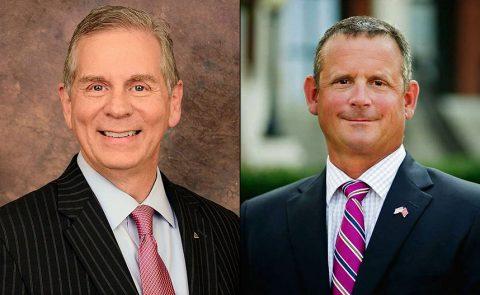 (L to R) Clarksville Mayor Joe Pitts and Montgomery County Mayor Jim Durrett.