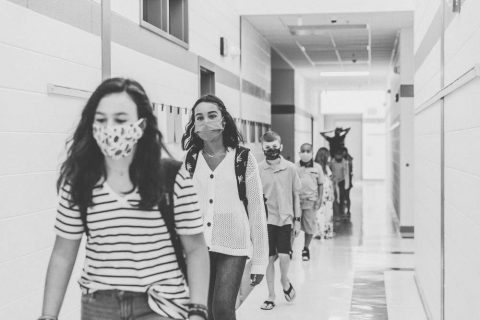 Social Distancing and face masks in the schools