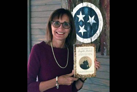Austin Peay State University professor of history Dr. Minoa Uffelman holds the Diary of Serepta Jordan. (APSU)