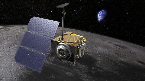 Artist's rendering of NASA's Lunar Reconnaissance Orbiter. (NASA's Goddard Space Flight Center)
