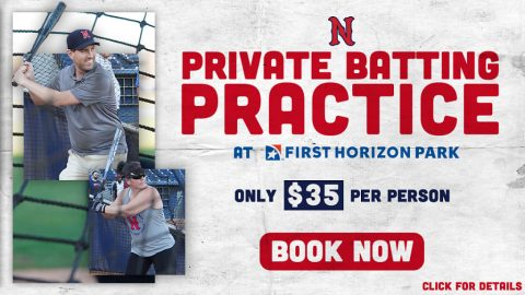 First Horizon Park available for Private Batting Practice Groups. (Nashville Sounds)