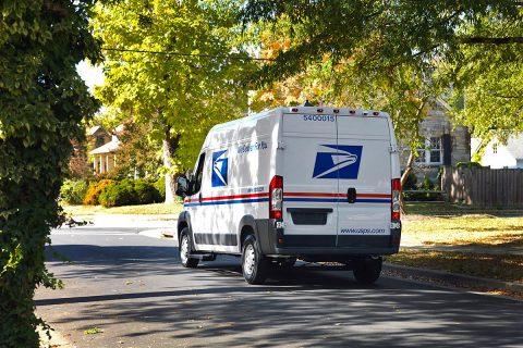U.S. Postal Service Delivery Vehicle. (USPS)