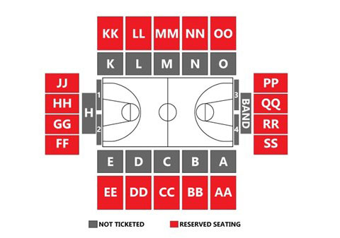Austin Peay State University Dunn Center Seating Chart. (APSU Sports Information)