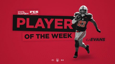 Austin Peay State University Football's CJ Evans Jr. receives STATS Perform FCS honor. (APSU Sports Information)