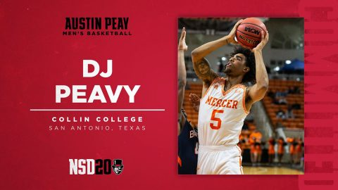 Austin Peay State University Men's Basketball adds DJ Peavy to roster. (APSU Sports Information)