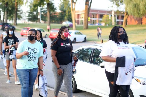 """""""The Unity Step"""" was held at Austin Peay State University on Thursday, September 10th. (APSU)"""