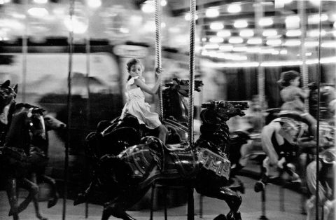 "One of Austin Peay State University's new Paulin photos, titled ""Carousel, New Orleans,"" taken in 1952. (APSU)"