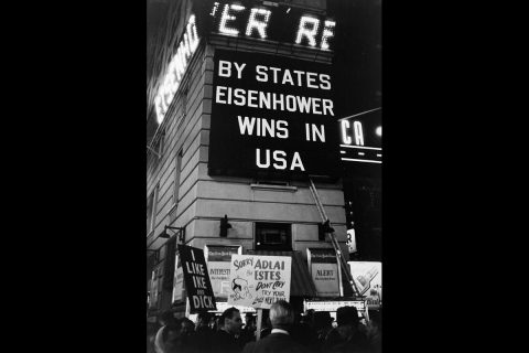 """Paulin photo titled """"Times Square,"""" taken in 1956. (APSU)"""