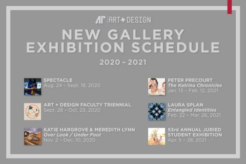 Austin Peay State University New Gallery Exhibition Schedule for 2020-2021. (APSU)
