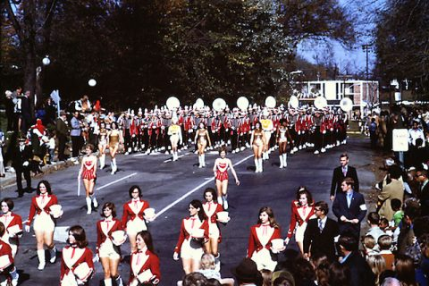 Austin Peay State University's 1970 Homecoming parade. (APSU)