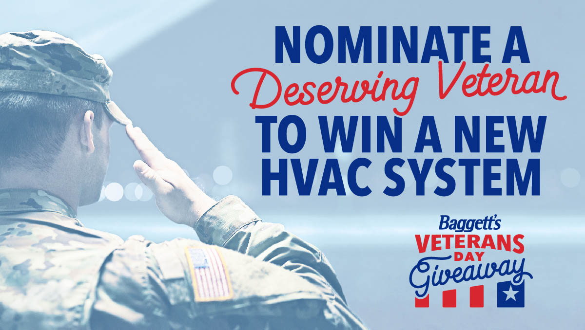 Baggett Heating and Cooling Veterans Day Giveaway