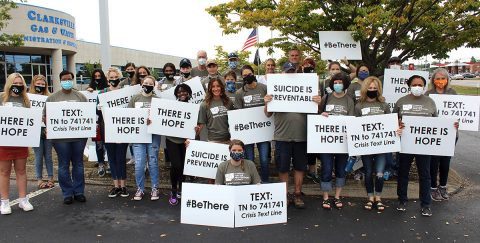 A large group of volunteers joined the Clarksville-Montgomery County Suicide Prevention Alliance on Saturday to spread the word that suicide is preventable and help is available.