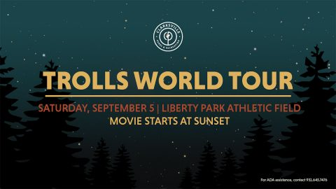 "Clarksville's Movies in the Park to show ""Trolls World Tour"" this Satruday at Liberty Park."