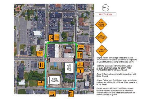 MPEC - Traffic Control Diagram - College Street Main Street